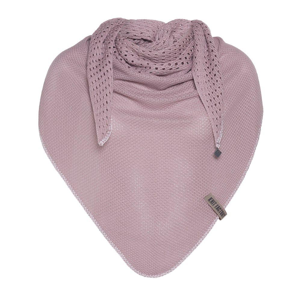 knit factory kf152060022 april omslagdoek oud roze 1