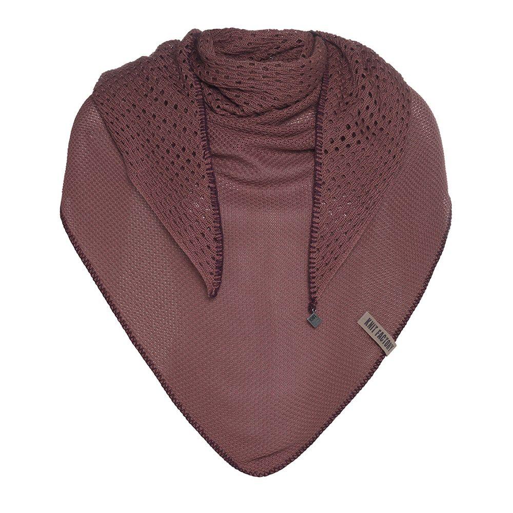 knit factory kf152060038 april omslagdoek stone red 1
