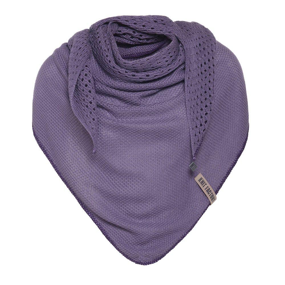 knit factory kf152060043 april omslagdoek violet 1