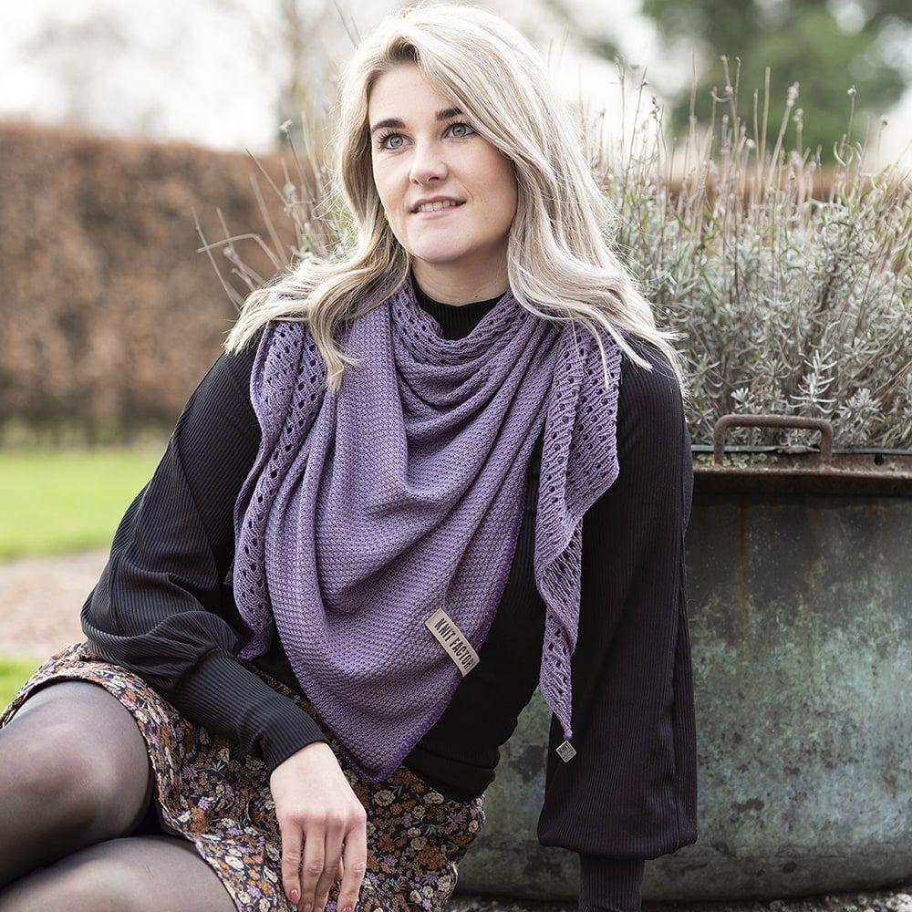 knit factory kf152060043 april omslagdoek violet 2