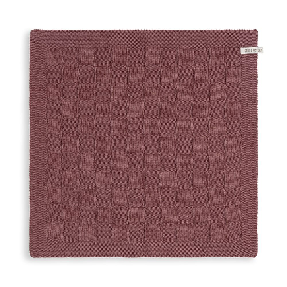 knit factory kf20020003850 keukendoek uni stone red 1
