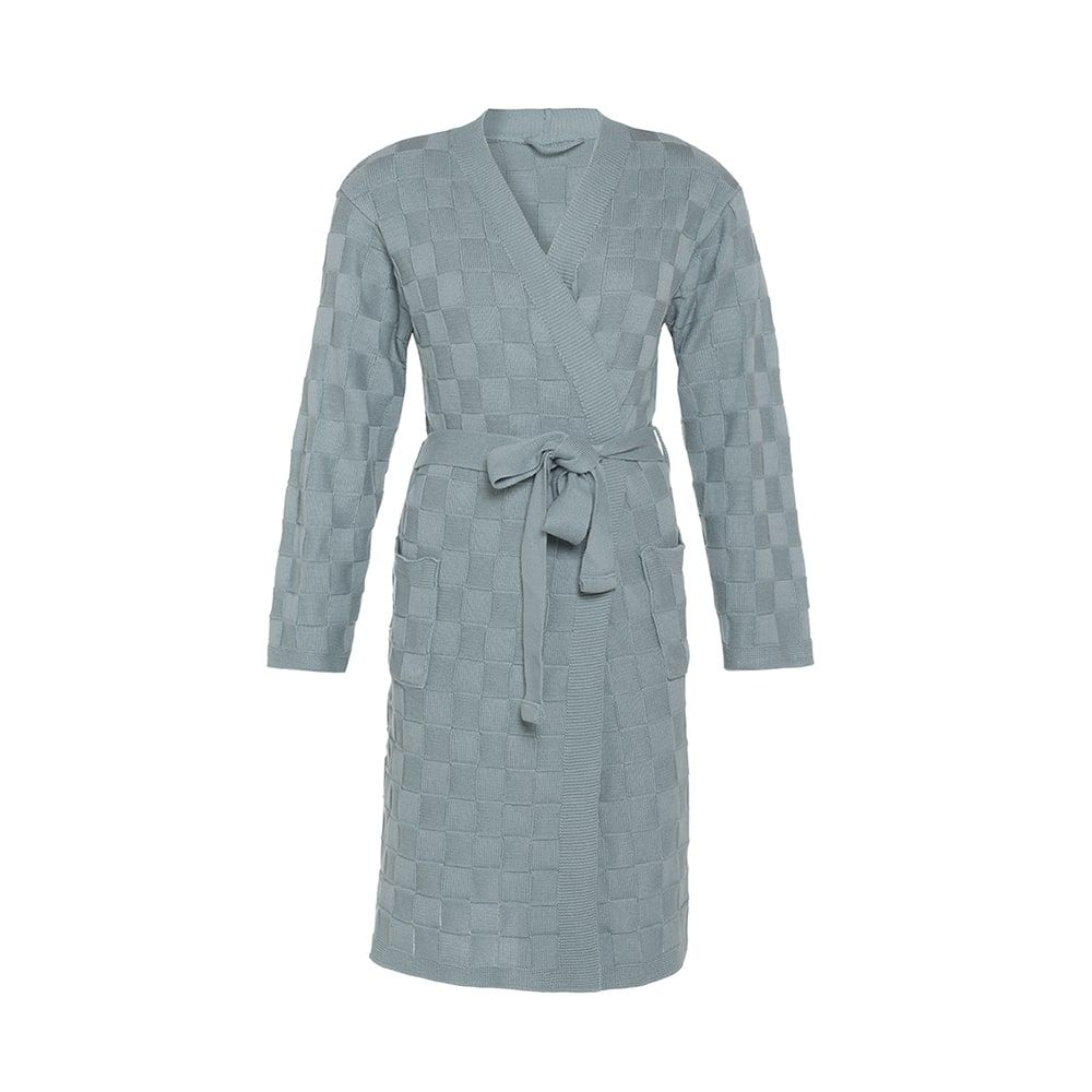knit factory kf20222000949 badjas ivy stone green sm 1
