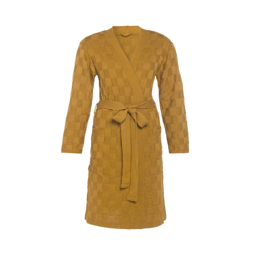 knit factory kf20222001751 badjas ivy oker lxl 1