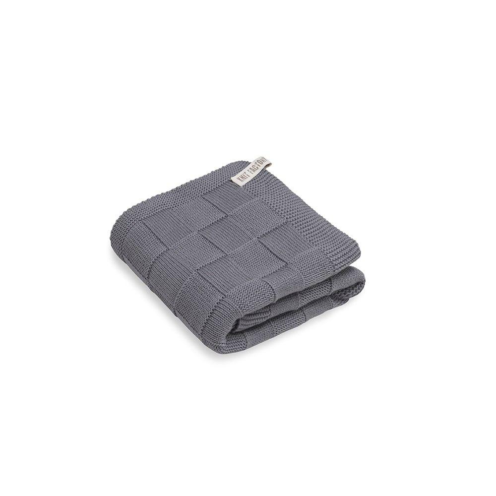 knit factory kf20222500650 handdoek ivy med grey 60x110 1