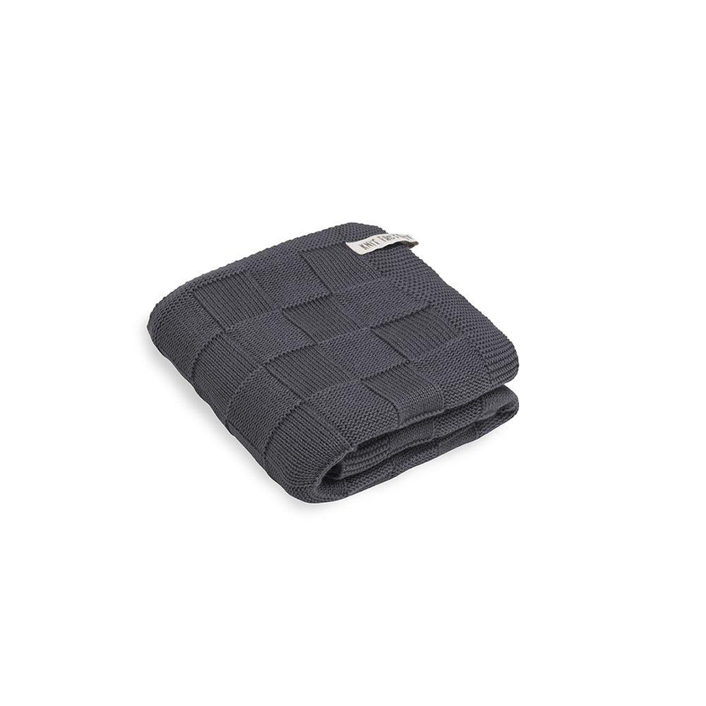 knit factory kf20222501049 handdoek ivy antraciet 50x100 1