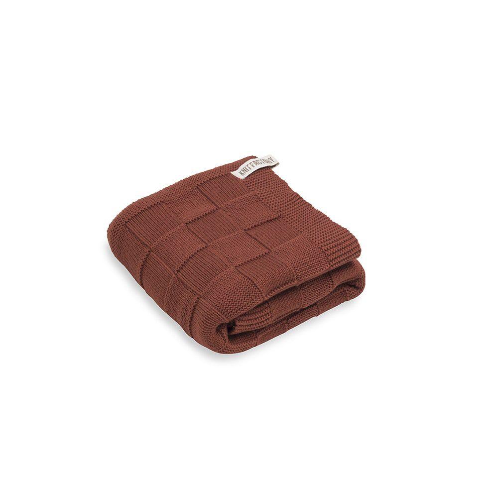 knit factory kf20222503650 handdoek ivy roest 60x110 1