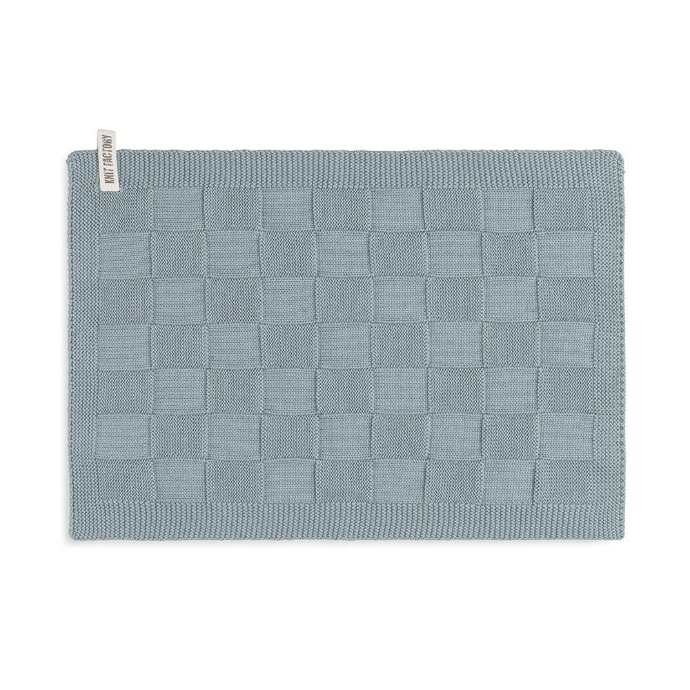 knit factory kf202226009 gastendoekje ivy stone green 1