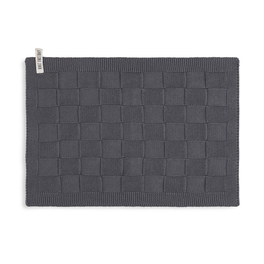 knit factory kf202226010 gastendoekje ivy antraciet 1