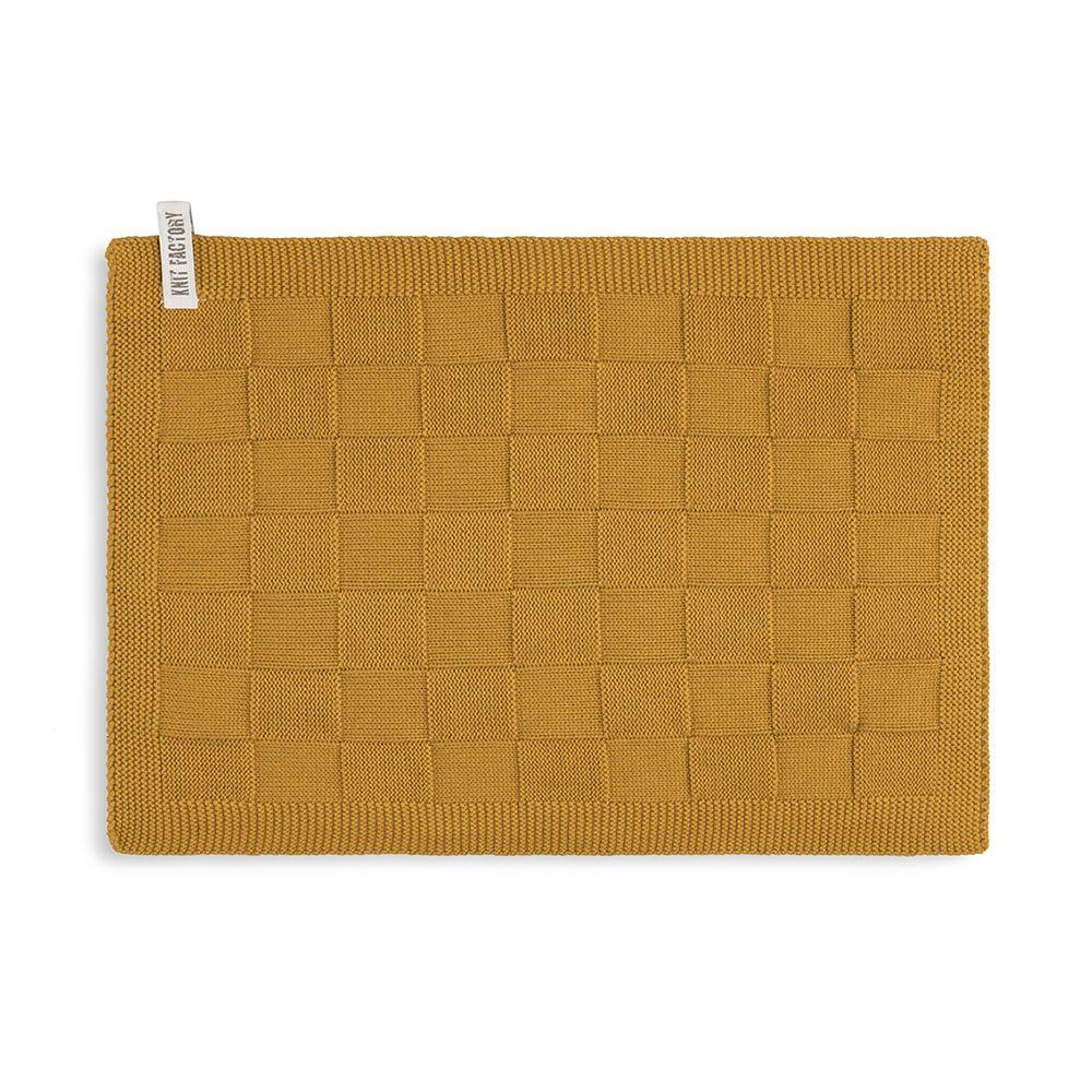 knit factory kf202226017 gastendoekje ivy oker 1