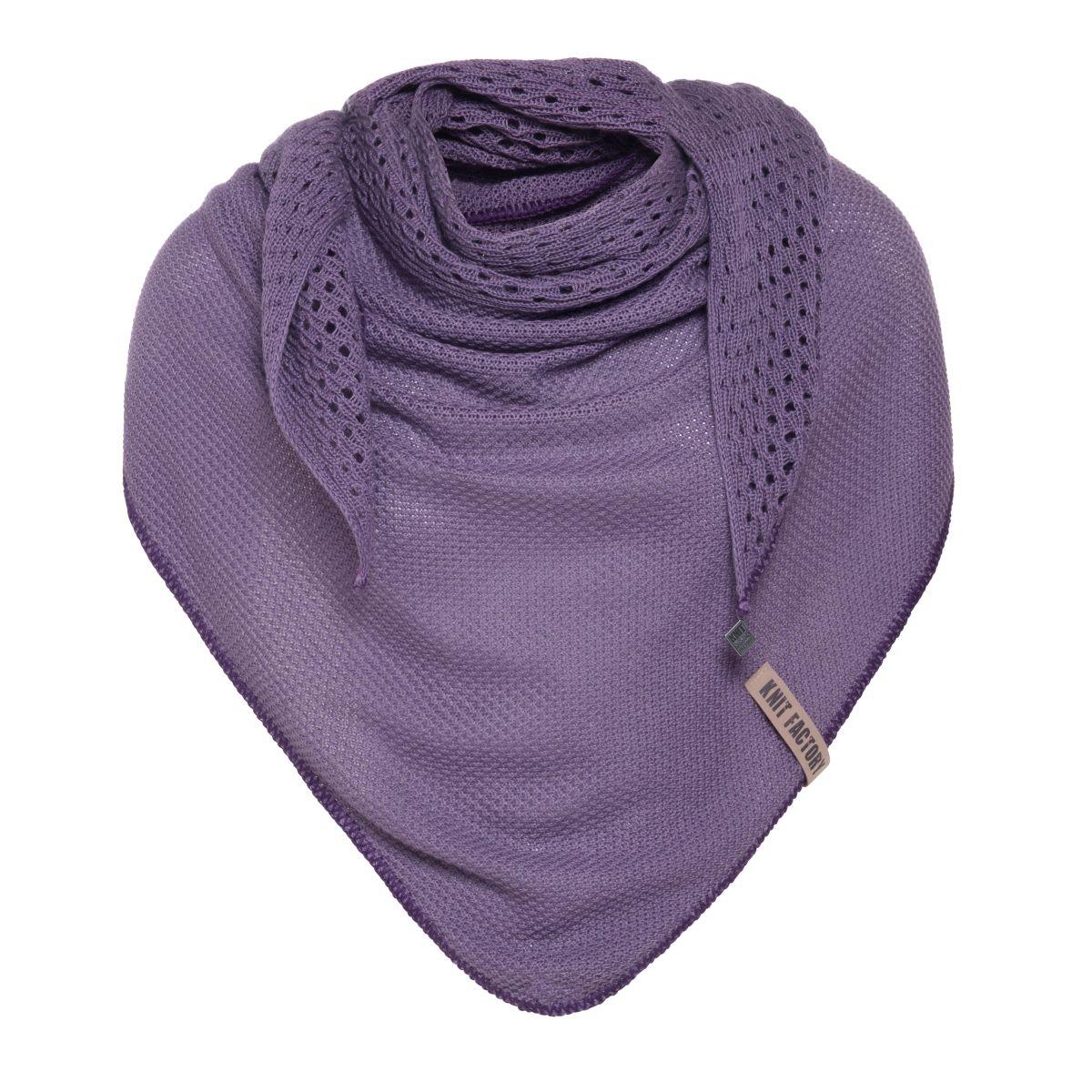 april dreieckstuch gestrickt violett