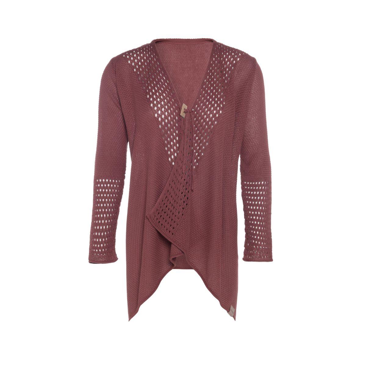 knit factory kf15208103851 april vest stone red 4042 1