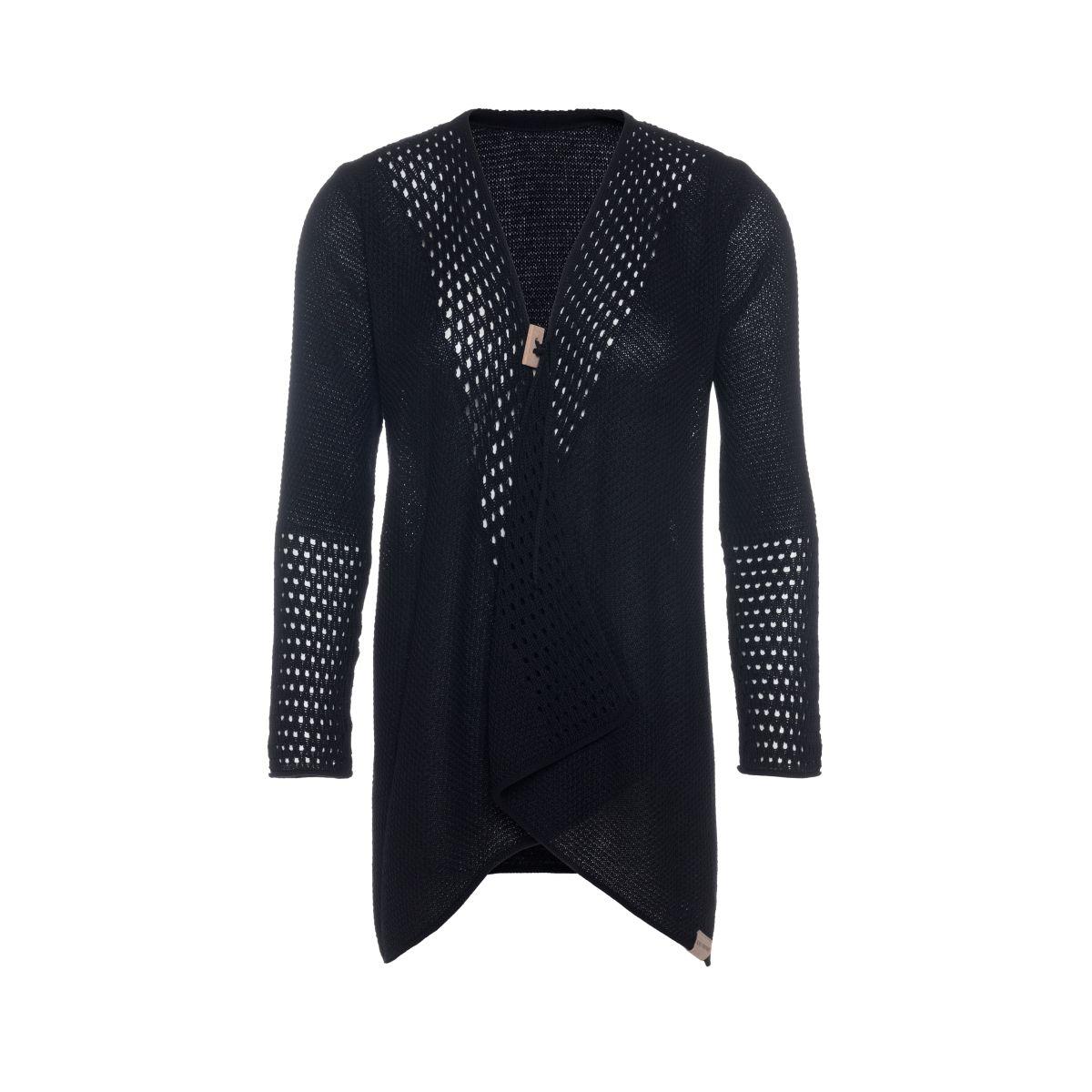 april knitted cardigan black 3638