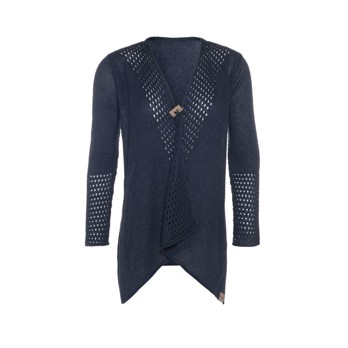 april knitted cardigan denim 3638