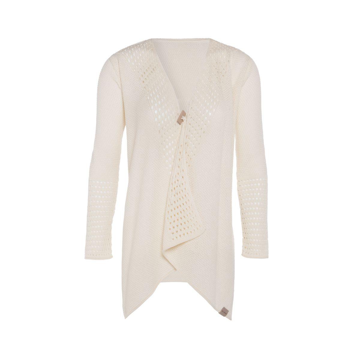 april knitted cardigan ecru 4042