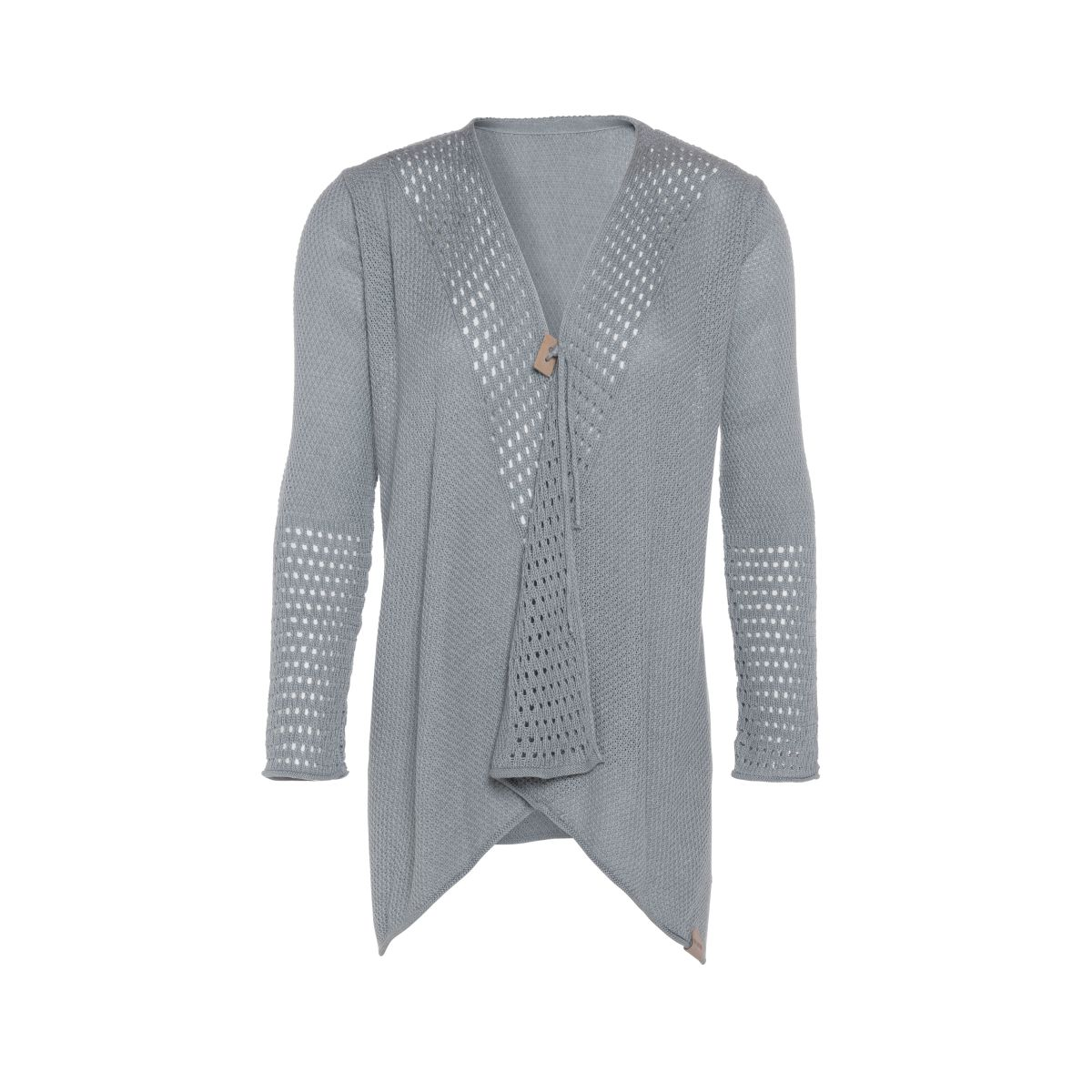 april knitted cardigan light grey 3638