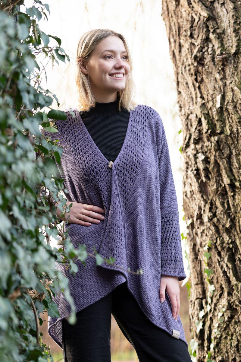 april knitted cardigan violet 3638