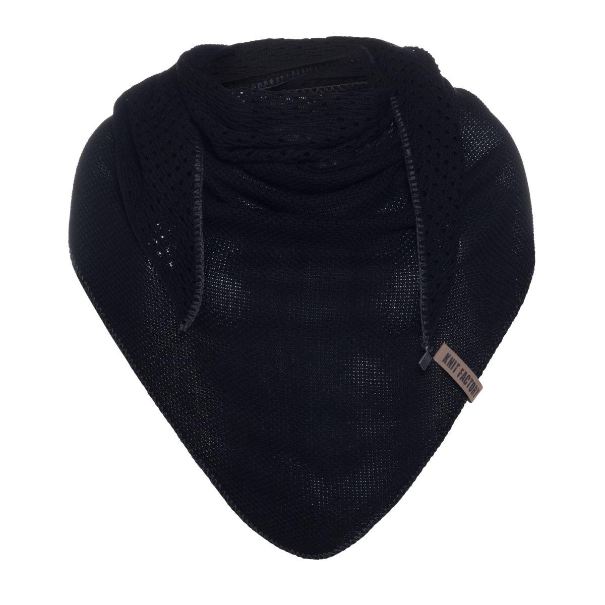 april triangle scarf black