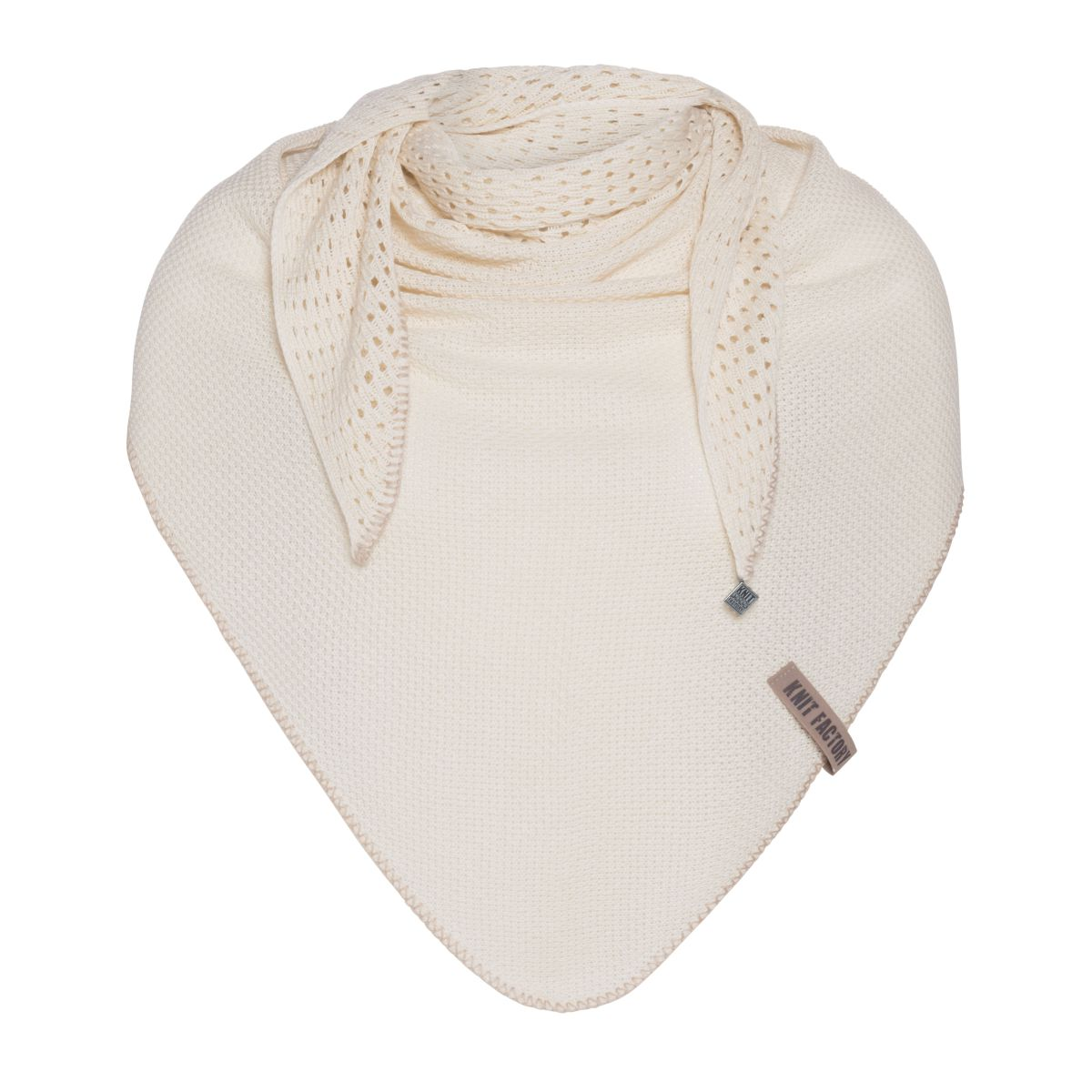 april triangle scarf ecru