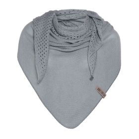 April Triangle Scarf Light Grey