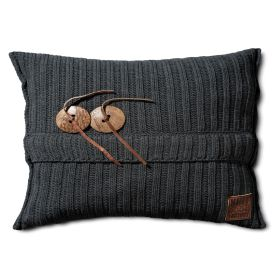 Aran Cushion Anthracite - 60x40