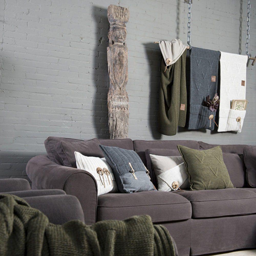 aran cushion anthracite 60x40