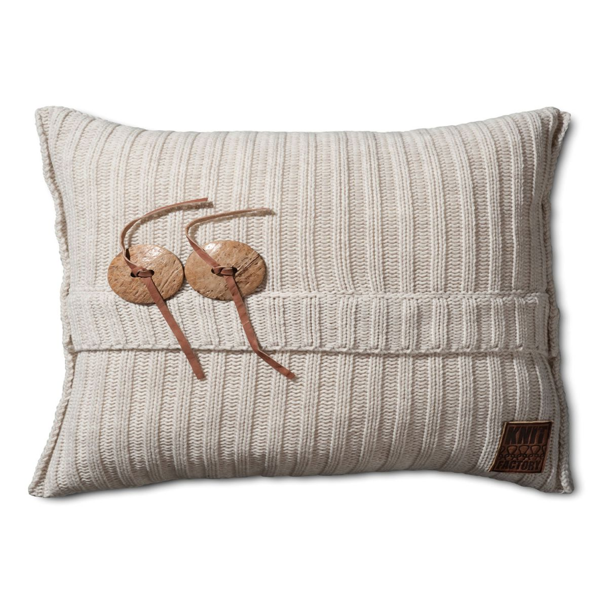 aran cushion beige 60x40