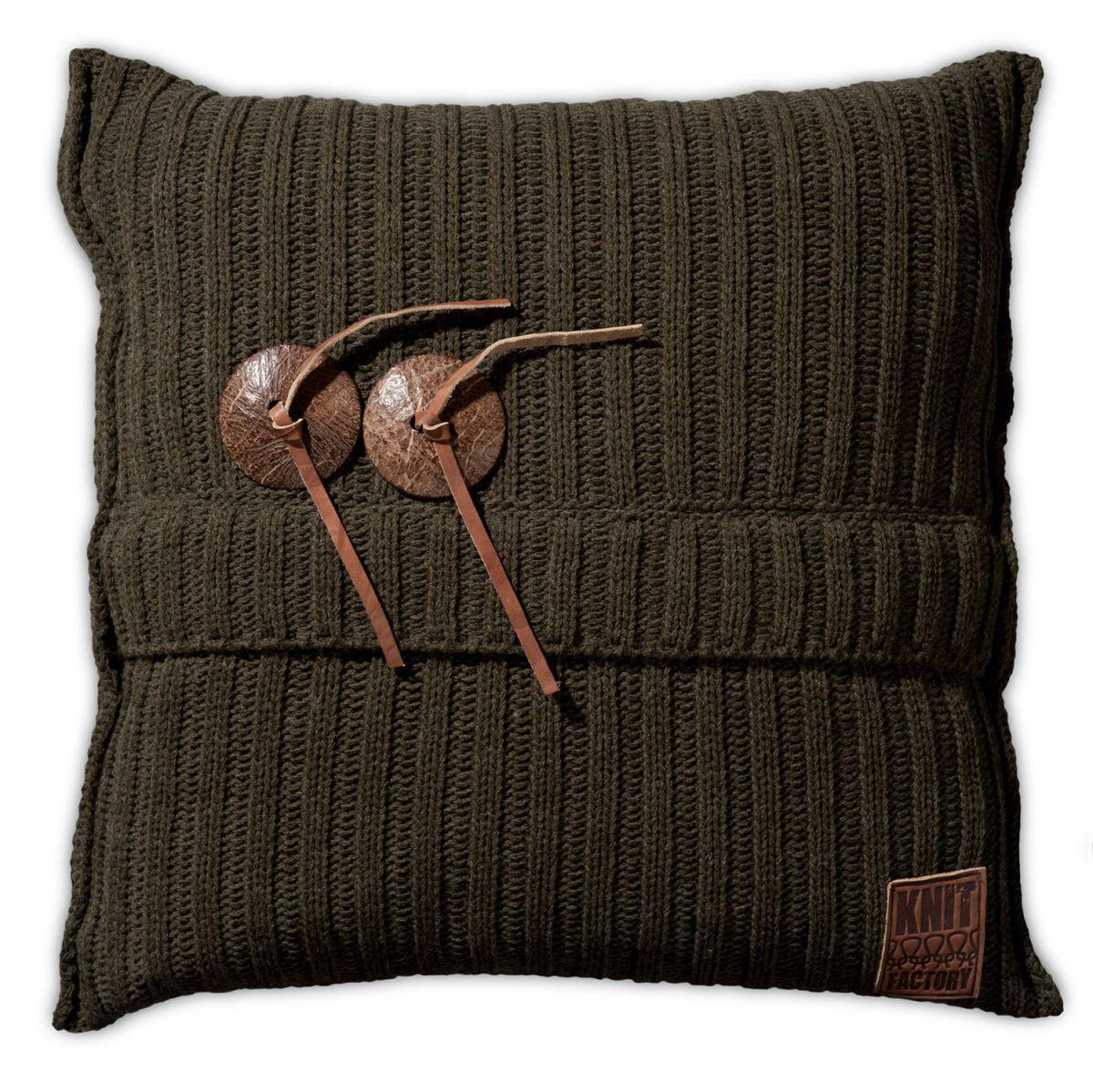 aran cushion green 50x50