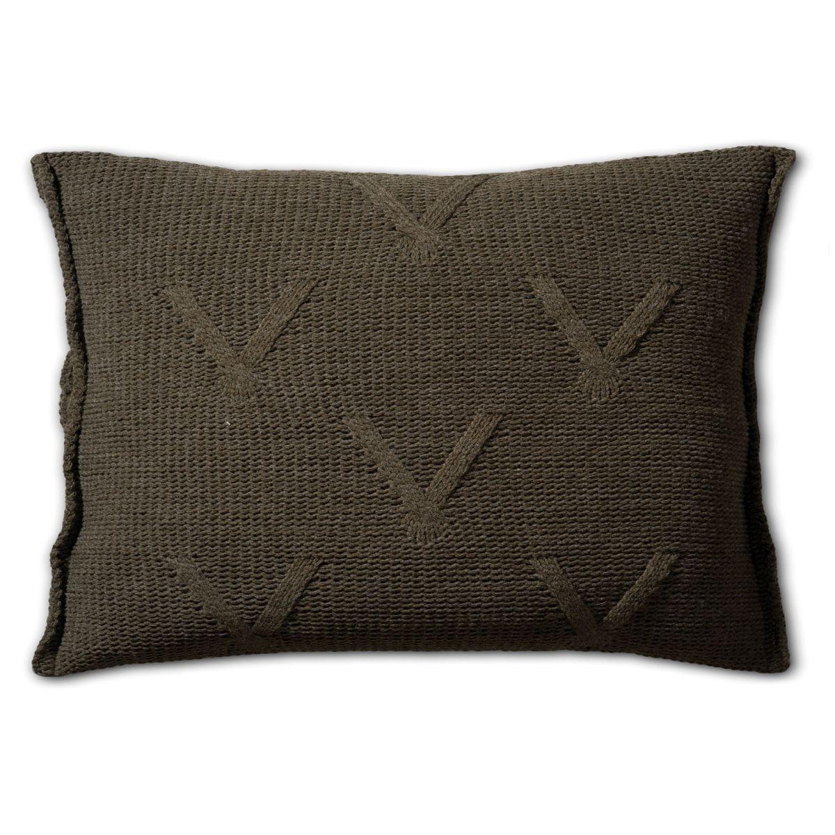 aran cushion green 60x40
