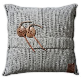 Aran Cushion Light Grey - 50x50