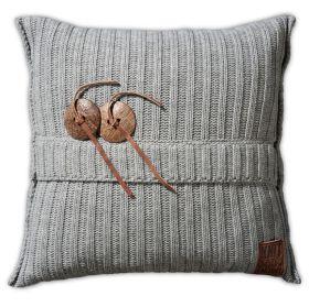 Aran Cushion Light Grey - 50x50