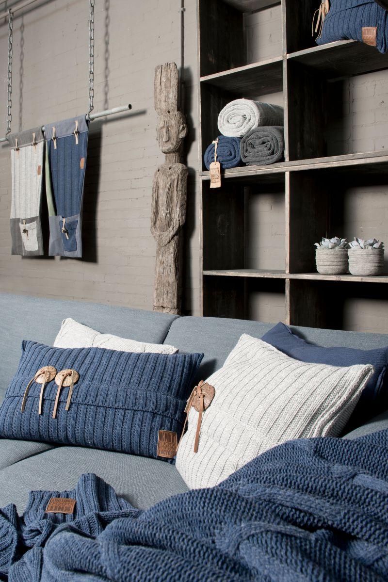 aran cushion light grey 50x50