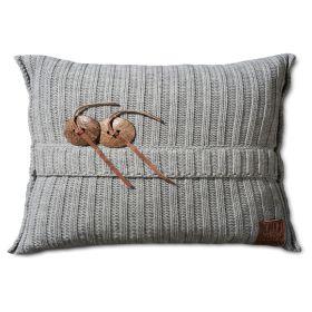 Aran Cushion Light Grey - 60x40
