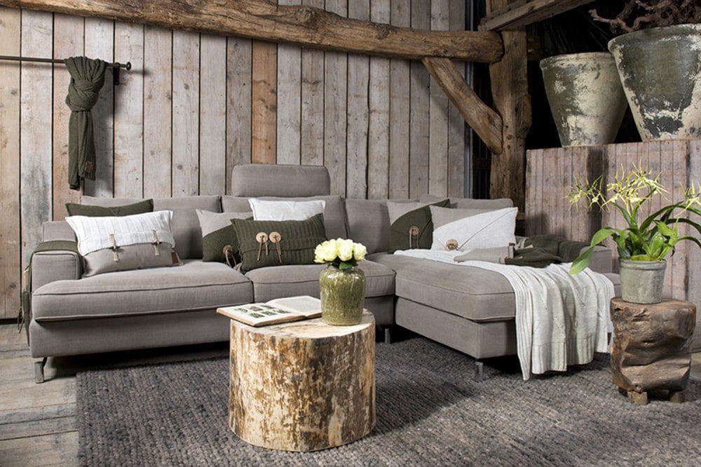 aran cushion stone green 60x40