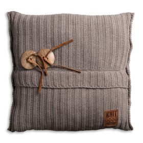 Aran Cushion Taupe - 50x50