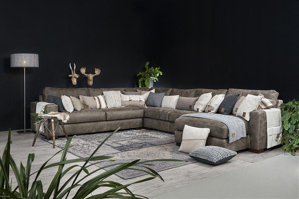 aran cushion taupe 50x50