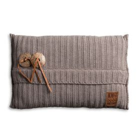 Aran Cushion Taupe - 60x40
