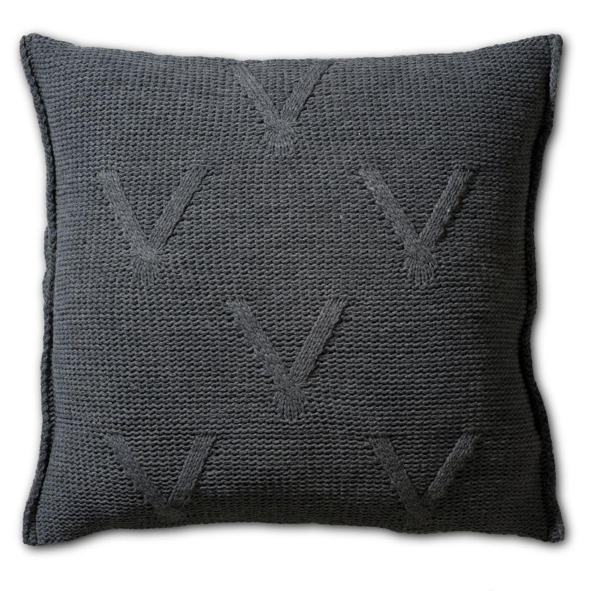 knit factory 1101210 kussen 50x50 aran antraciet 2