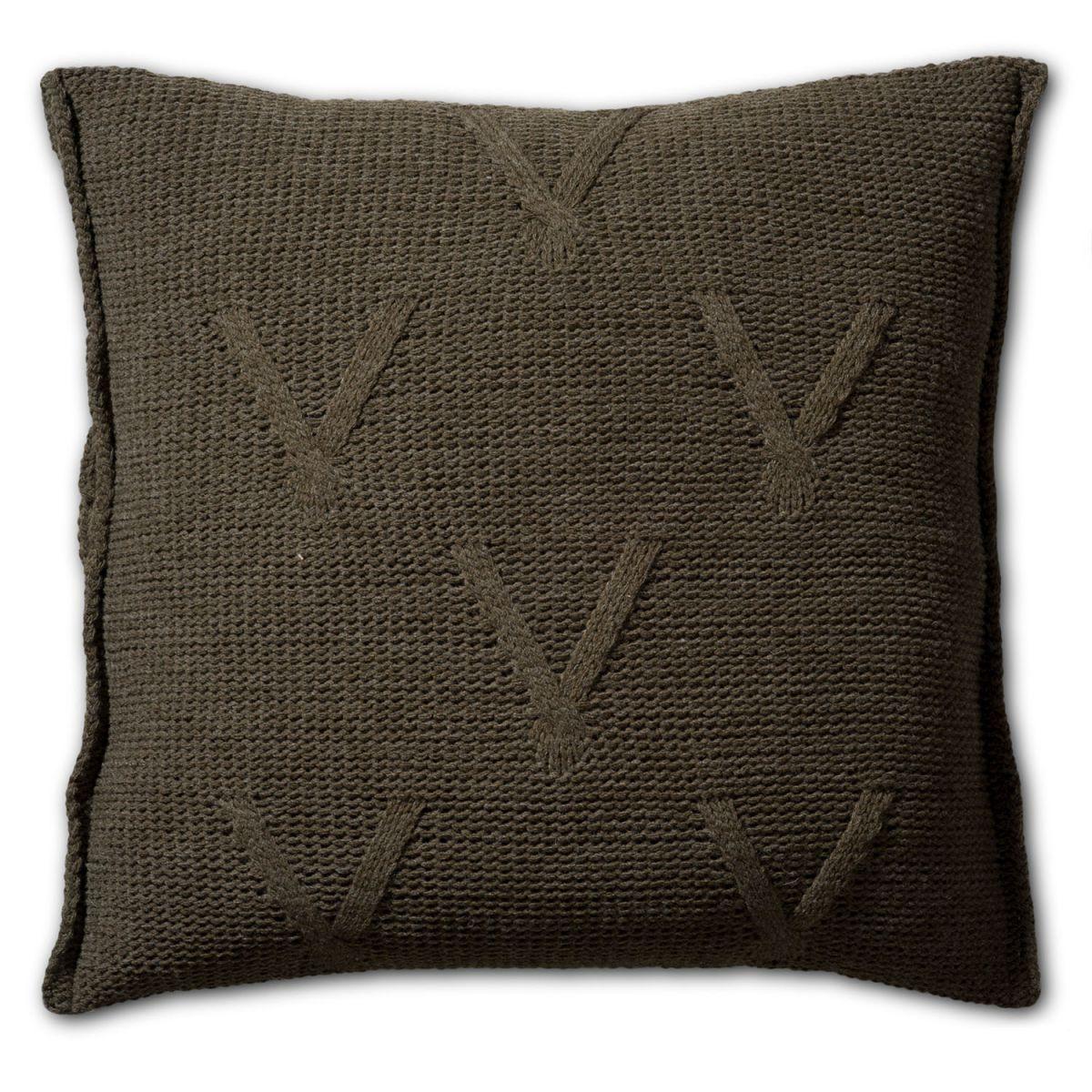 knit factory 1101214 kussen 50x50 aran groen 2