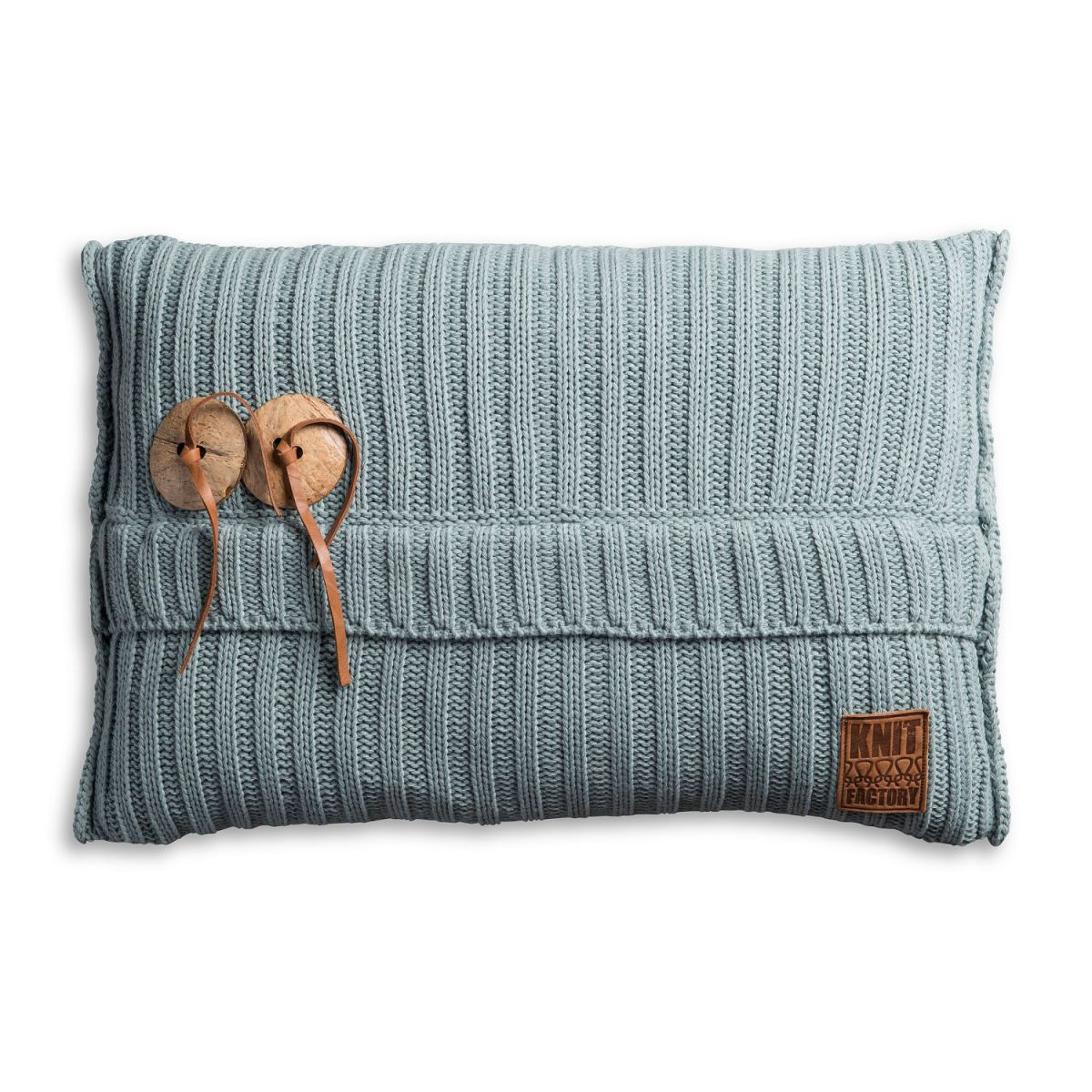 knit factory 1101309 kussen 60x40 aran stone green 1