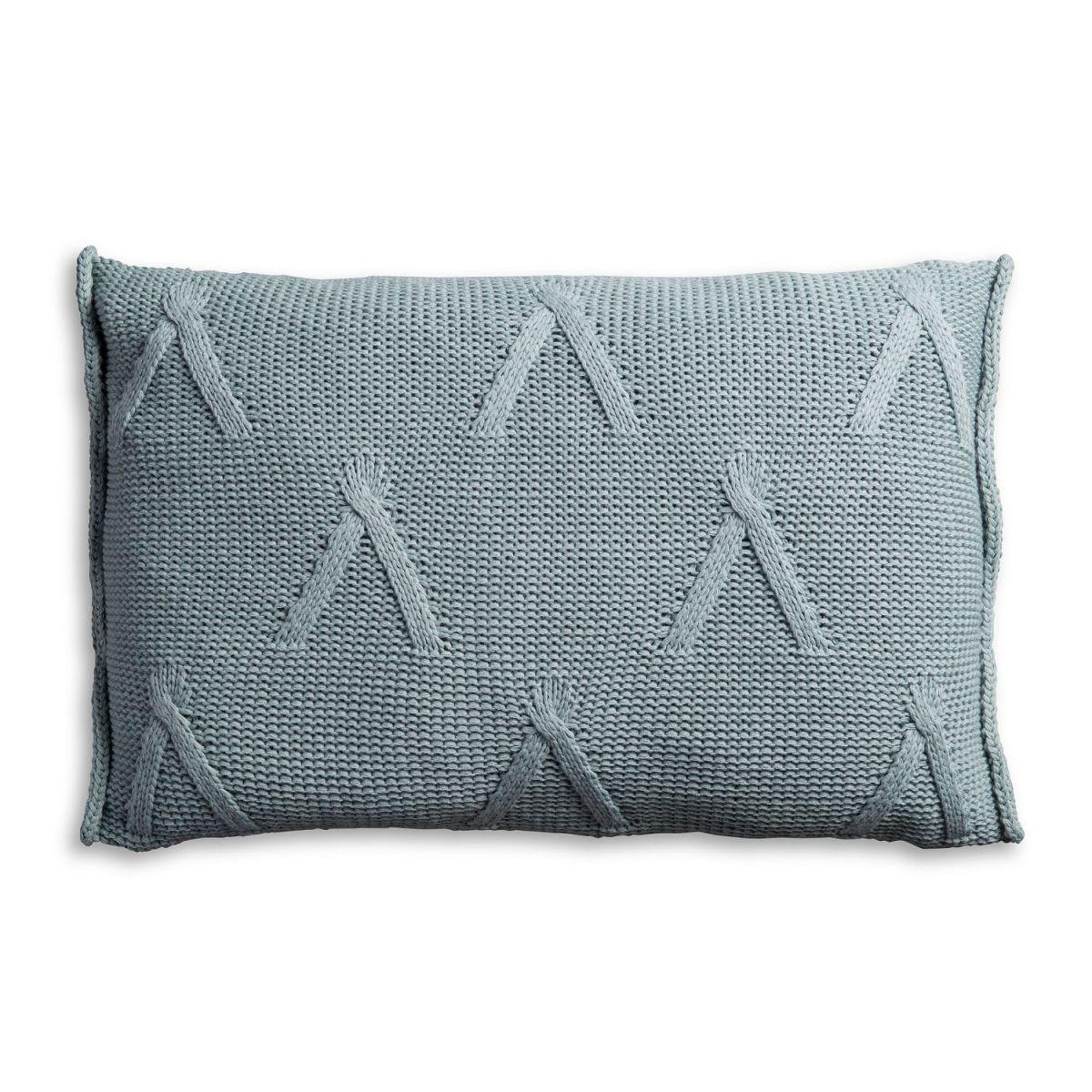knit factory 1101309 kussen 60x40 aran stone green 2