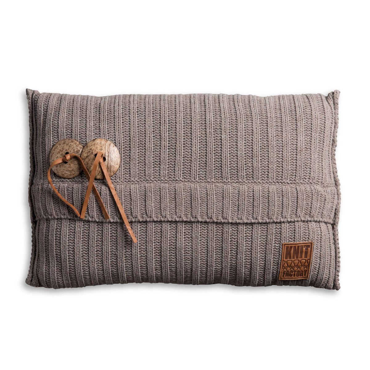 knit factory 1101329 kussen 60x40 aran taupe 1