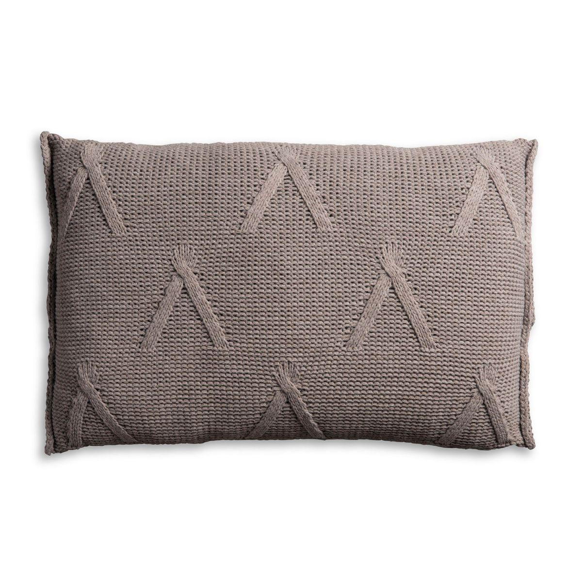 knit factory 1101329 kussen 60x40 aran taupe 2