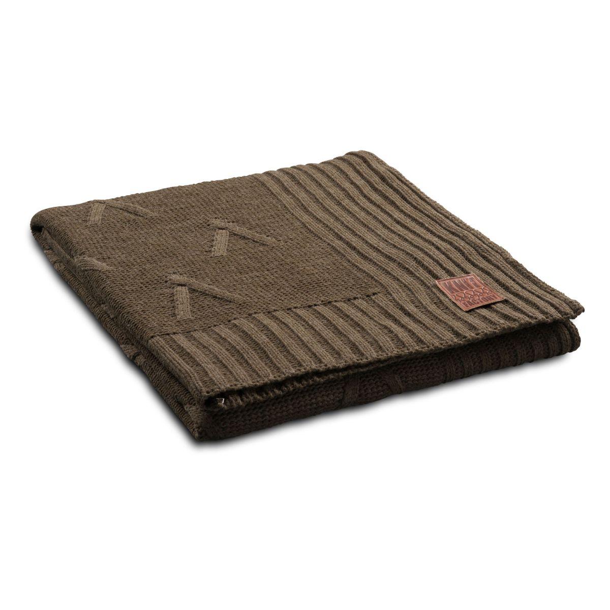 knit factory 1101114 plaid aran groen