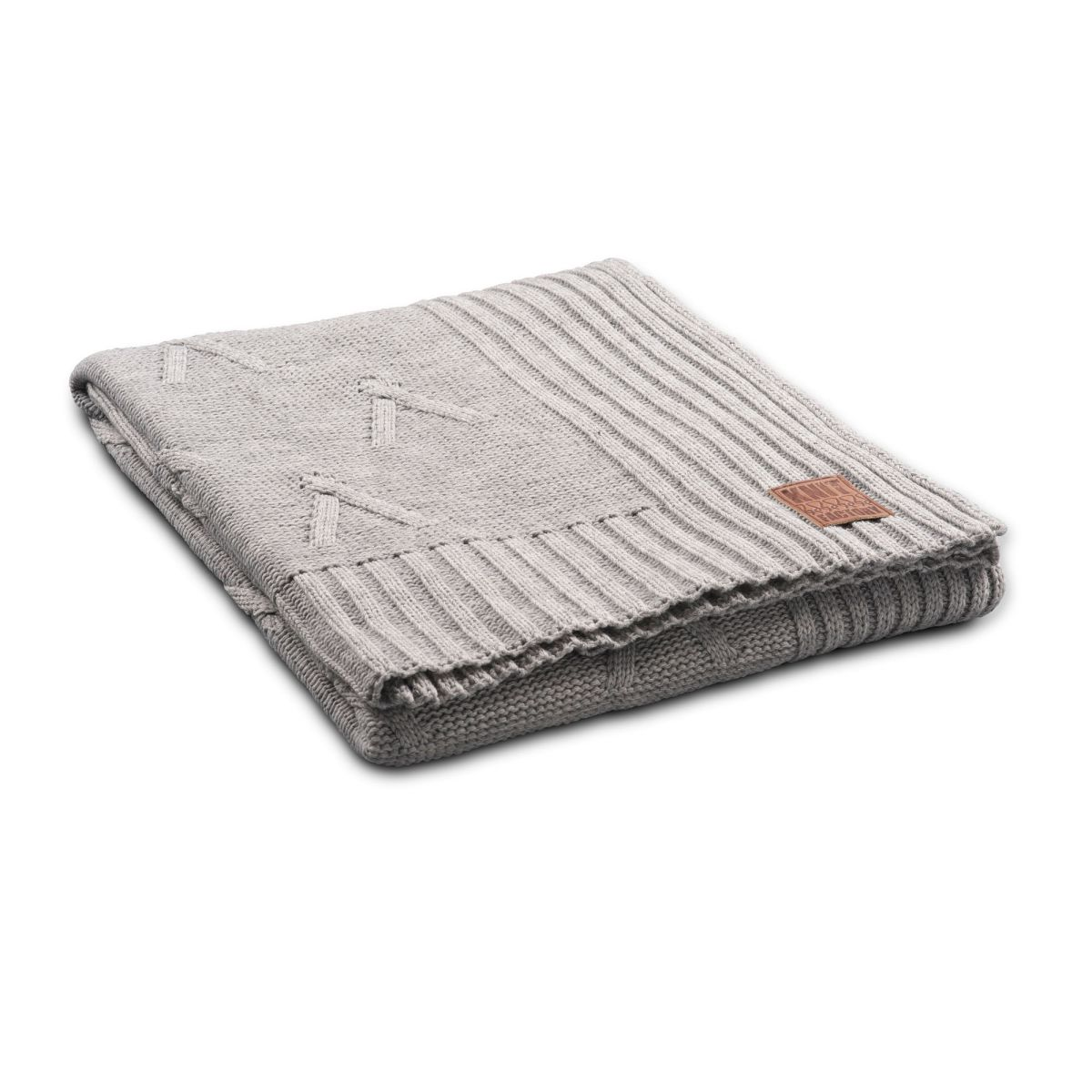 knit factory 1101111 plaid aran licht grijs