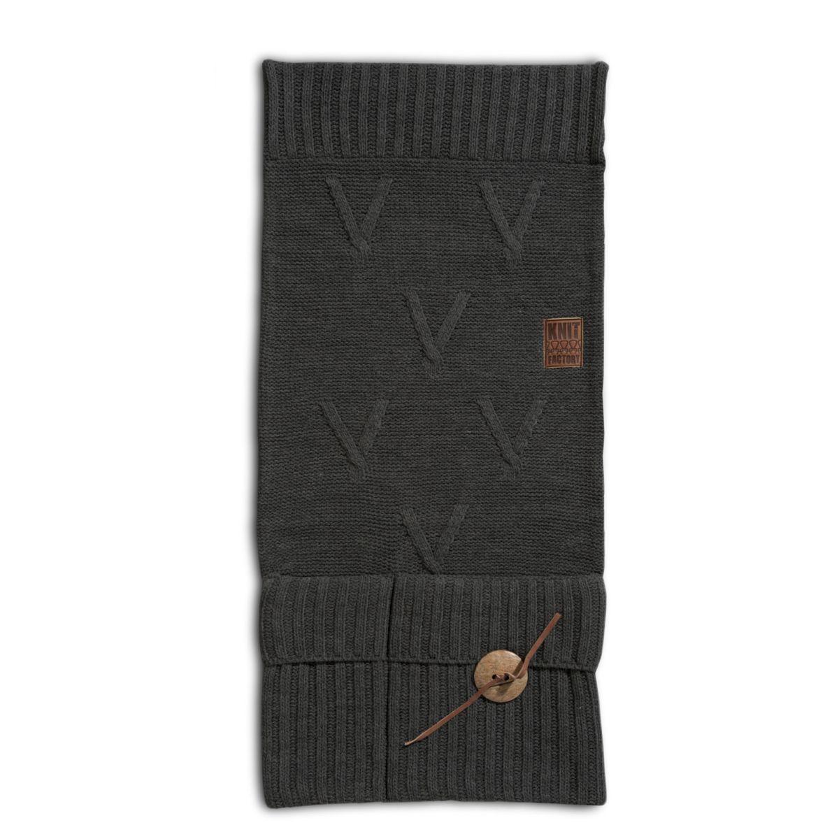 knit factory 1101010 pocket aran antraciet
