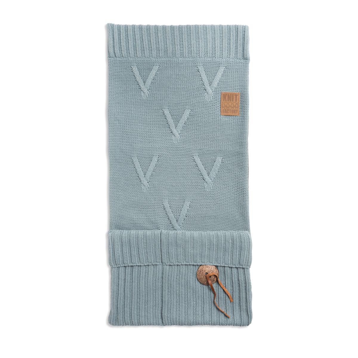 knit factory 1101009 pocket aran stone green