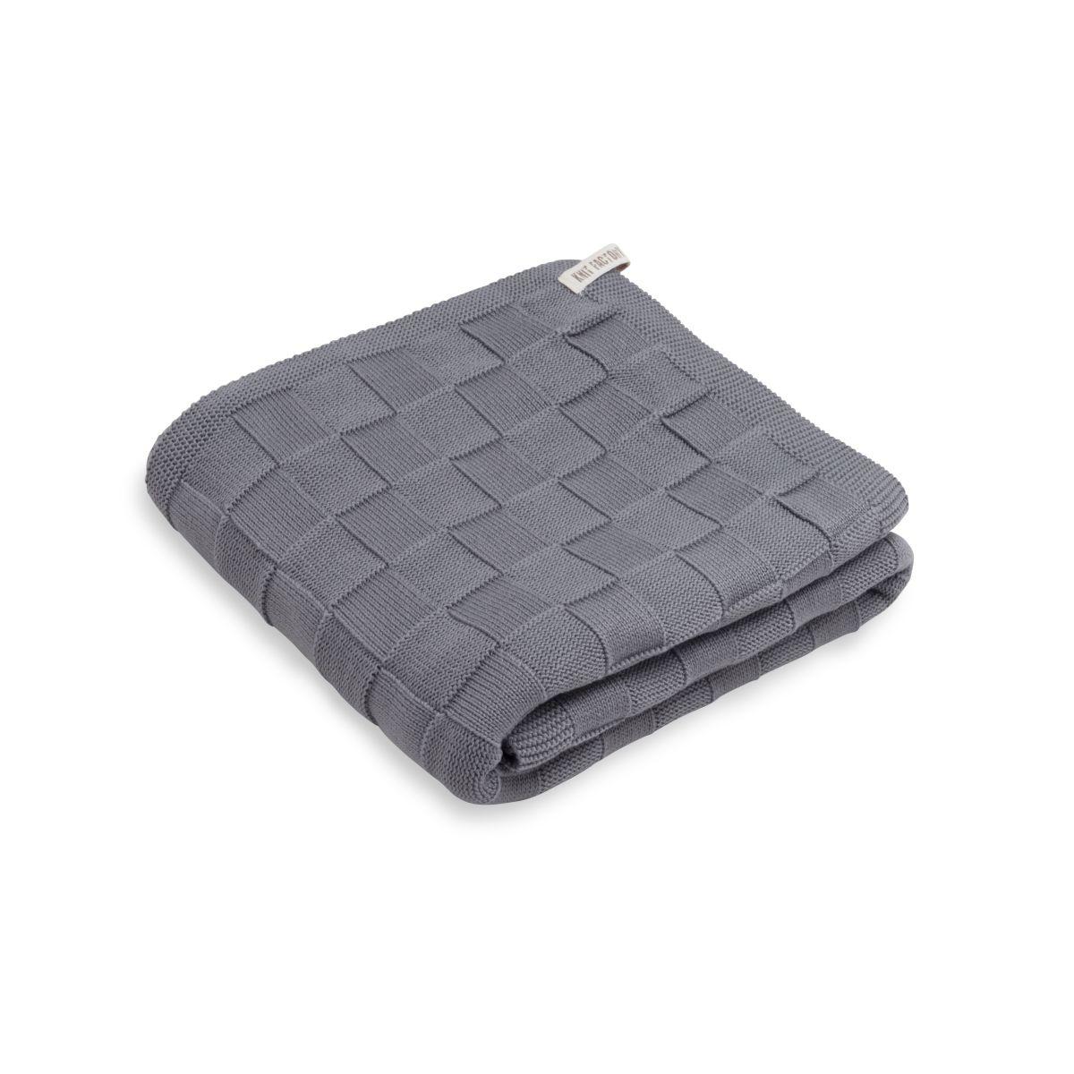 knit factory kf20222500651 badhanddoek ivy med grey 1