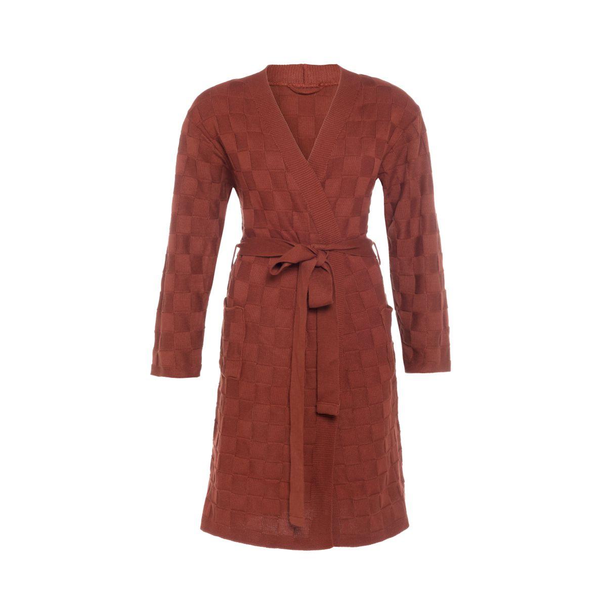 knit factory kf20222003651 badjas ivy roest lxl 1