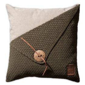 Barley Cushion Green - 50x50