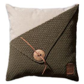 Barley Cushion Green - 50x50